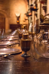 Dining (Cathy G) Tags: uk set dinner canon table harrypotter plates hertfordshire watford settings goblets lseries thegreathall canon24105mm canon7d harrypotterstudiotour