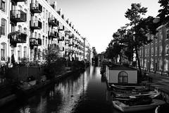 Walking around Amsterdam (Eurel Laugh) Tags: street city bw water amsterdam river landscape canal nikon eau rivire nb ville d3100