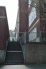 PSU Campus (David A's Photos) Tags: red brick college oregon buildings campus portland point hall university state vanishing multnomah psu shattuck
