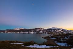 Cold sunset (luigig75) Tags: sunset italy moon lake lago grande italia tramonto luna gran 1022 abruzzo corno sasso canonefs1022mmf3545usm campotosto 70d parconazionaledelgransassoemontidellalaga cornopiccolo