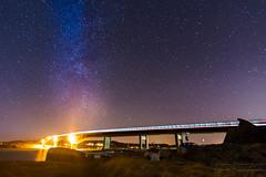 Night (johanbe) Tags: longexposure bridge light sky color night stars evening nikon sweden himmel clear sverige bro vstragtaland kunglv kvll stjrnor rkan instn instbron d7200