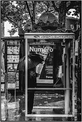 secret agent in public phone (dumontet.gilles) Tags: paris public monochrome blackwhite phone noiretblanc secret ngc montmartre agent abbesses