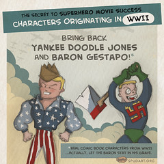 WWII comic book characters (spudart) Tags: chart cute movie sketch comic drawing nazi swastika wwii graph worldwarii 1940s german stats comicbook superhero superheroes comparison score rating starsandstripes barchart average webcomic infographic ranking pencildrawing superheromovies cartoonsketch infocomic superheromovie superherocomic wwiisuperhero bestsuperheroes listofsuperheroes wwiicomicbook wwiisuperheroes yankeedoodlejones barongestapo