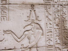 Egyptian God Seth & Hieroglyphics (shaire productions) Tags: old history stone wall temple photo carved seth sandstone tour image artistic god egypt picture culture evil carving photograph horus gods archeology mythology cultural hieroglyphs hieroglyphics archaic edfu templeofhorus egyptandthenile godofchaos
