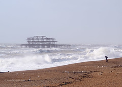 Storm Imogen hits Brighton West pier (Scotty H..) Tags: uk sea england storm english weather outdoors pier brighton waves wind windy stormy gales british seafront winds eastsussex seas breaking brightonpier palacepier wintry breakingwaves stormforce gusting
