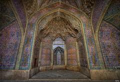 Niche - Courtyard of Nasir al-Mulk Mosque, Shiraz (Calim*) Tags: iran niche persia mosque