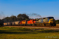 CSX K861 with CP SD40s Ellerslie, FL 2-18-16 (tarellsallie) Tags: blue trees red copyright usa white cars ice up grass america cn canon landscape afternoon unitedstates general florida ns smoke tracks engine unionpacific locomotive canadianpacific cp ge railfan bnsf choochoo lightroom railroadtracks generalelectric canadiannational pasco feburary hoppers csx kcs norfolksouthern 2016 emd railfanning pascocounty sd40 dadecity sd60 es44dc sd70 sd70mac electromotive sd50 sd70ace ac4400 es44ac ac6000 ac60cw canont3i