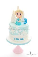 Elsa Frozen Cake (Little Cottage Cupcakes) Tags: birthday snowflake cake frozen disney birthdaycake sparkly elsa fondant frozencake sugarpaste girlcake littlecottagecupcakes elsacake