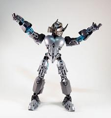 Toa Niretta - Tada!! (0nuku) Tags: silver lego da deviant oc deviantart bionicle toa kakama selfmoc niretta