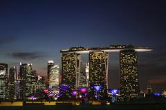 Barrage Break (...Iwonttell) Tags: longexposure nightphotography travel sunset skyline bay singapore cityscape dusk wanderlust explore nightview marinabay marinabarrage gardensbythebay marinabaysands