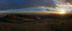 Perfect Late Winter Sunrise From Arthurs Seat, Edinburgh (Christo Gallagher) Tags: panorama dog sunrise edinburgh caper
