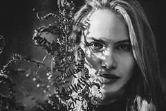 f e r n s | part II (Fräulein Maximiliane) Tags: portrait blackandwhite woman nature monochrome quiet darkness dreams whimsical portraitphotography darkdream darkfairytale