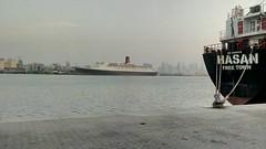 QE2 Port Rashid February 2016 (Louis De Sousa) Tags: port rashid dubai qe2 legend cunard dry dock nakheel dp world queenelizabeth2 portrashid dpworld