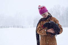 Friends in the Snow (backerharrison132) Tags: road ranch snowflake wood pink trees winter red wild portrait people cloud pet brown white snow storm black cold color tree bird texture chicken ice girl beautiful smile field hat rain weather animal lady clouds composition rural america forest scarf fence season happy kid nikon dof child angle emotion outdoor expression farm wildlife cap missouri lane overalls grin serene snowing 1855mm fulton snowfall hen depth tranquil carhartt coveralls d3300