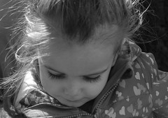 lashes (...Gail...) Tags: portrait bw girl toddler lashes candid 365