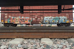Nekst Erupto (Psychedelic Wardad) Tags: graffiti next msk dts sws d30 mayhem freight gtb irak erupto nekst dirty30 vts a2m erupto327 benching