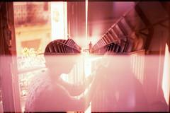 way of light (fotobes) Tags: light portrait man france london window reflections lca xpro crossprocessed women doubleexposure crossprocess models tunnel multipleexposure analogue canarywharf fujivelvia100 zenite ratseyeview filmswap internationalfilmswap chinscraper sachakimmes sabrinasako lafillerenne