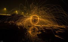 Steelwool In Weymouth (N-K-Photography) Tags: longexposure nightphotography steel spinning openshutter refelection stee steelwool spinningfire steelwoolphotography steelwoolporn