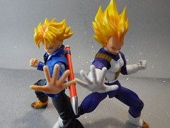 Father and Son (Matheus RFM) Tags: trunks dragonballz bandai vegeta dbz shfiguarts