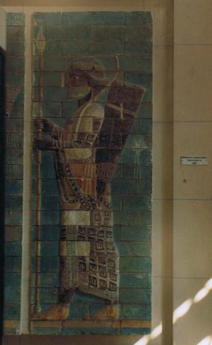 O paso do guerreiro de Persépolis, ca. 500 a. C.