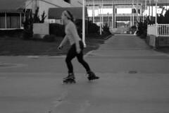 Skatin' Down the Boardwalk (missranger) Tags: camera leica film 35mm roller boardwalk skater blades