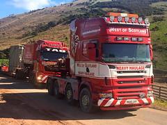 West of Scotland (Paul.Bevan) Tags: man truck tag transport lorry trailer v8 haulage stgo lightbar specialist doubleheader cat3 kelsa lowloader heavyhaulage westofscotland r580 tractorunit scannia convoiexceptionnel transformerdelivery n600grf