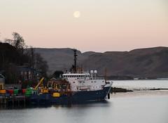 NLV Pole Star in Oban Bay at Dawn (Russardo) Tags: dawn star bay scotland pole oban mv nlv
