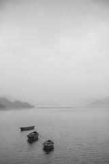 Boats (elenaleong) Tags: nepal misty boats pokhara freshwaterlake fewalake pokharavalley phewatai