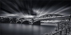 Different Perspective (Robert Bilinski) Tags: longexposure bridge bw london monochrome canon railway barnes thamesriver nisi 1635mmf4 zomei robbil robertbilinski