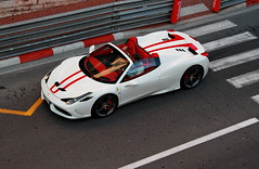 White and Red (D.N. Photography) Tags: auto road cars car canon eos automobile automotive ferrari monaco exotic transportation 7d carlo monte supercar automobiles speciale exotics supercars 458 worldcars specialea