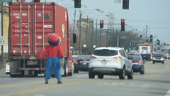 you want a piece of me (timp37) Tags: chicago game guy me up march costume illinois you mario want cart piece cicero dressed 2016 gamestop