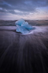 Black Beach (mitalpatelphoto) Tags: ocean longexposure travel blue vacation ice beach water vertical clouds landscape photography is iceland nikon europe waves visit glacier adventure explore atlanticocean blackbeach diamondbeach