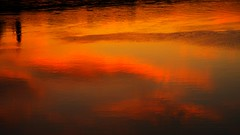 sky on a water (Darek Drapala) Tags: light sunset sky sun color reflection water clouds lumix evening view poland polska panasonic warsaw warszawa vistula reflects skyskape panasonicg5