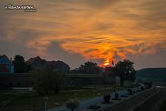 Fire sky above Osijek (v.Haramustek) Tags: red sky orange clouds river fire sundown outdoor osijek croatia promenade moment oldtown promenada drava slavonija tvra
