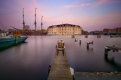 Sit down, please (karinavera) Tags: longexposure travel sunset netherlands amsterdam museum outdoors pier boat chair furniture nikond5300