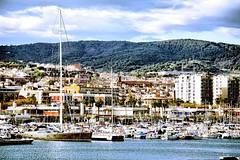 desde el Faro (Fnikos) Tags: city sea sky seascape nature sailboat forest port landscape boat waterfront outdoor