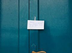 to the beach cafe (watcher330) Tags: door beach cafe message llangrannog