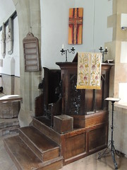 St Peter's, Dixton, Monmouth 28 April 2016 (Cold War Warrior Follow Me on Ipernity) Tags: stpeters church chapel monmouth pulpit dixton