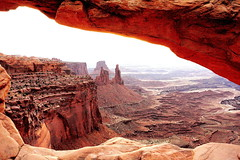 Mesa Arch View (Jay Costello) Tags: red utah nationalpark ut sandstone arch canyonlandsnationalpark canyonlands moab mesa buttes