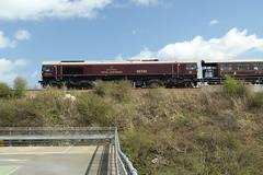 66746+66736 North Queensferry, Scotland (Paul Emma) Tags: uk railroad train scotland railway northqueensferry class66 royalscotsman dieseltrain 66736 66746