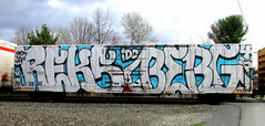 reks - berg45 (timetomakethepasta) Tags: up berg train graffiti pacific union um boxcar hcm freight tfl reks wholecar idc berg45 ku2f
