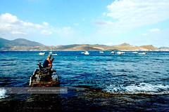 Contemplation (bench serie) (Barbara Oggero) Tags: blue sea color beach water bench island pier fisherman mare doors blu wave greece grecia acqua cyclades milos contemplation isola onda cicladi mediterrean
