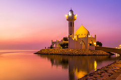 White Mosque (alvinpurexphotography) Tags: sunrise mosque corniche ksa khobar