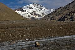 Silvertip (Lee Petersen) Tags: summer mountain snow ice rock alaska glacier moraine alaskarange silvertip castner