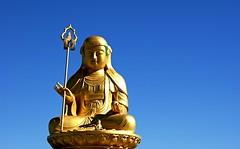 Golden statue of bodhisattva Ksitigarbha (or JijangBosal in Korean) near the Haedong Yonggung Temple in Busan, Korea (Jane Satorova) Tags: temple golden buddhism korea busan bodhisattva ksitigarbha mahayana  jijangbosal