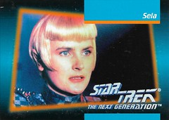 Star Trek The Next Generation 1992 series Trading Card 028 Fron (zigwaffle) Tags: startrek television card trading sciencefiction 1992 startrekthenextgeneration paramount romulan sela denisecrosby impel