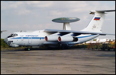 76455 - Moscow Zhukovsky (ZHU) 17.08.2001 (Jakob_DK) Tags: 2001 zia uubw moscow moscowzhukovsky aeroflot ilyushin ilyushin76 ilyushin76976 il76 il76976 candid cargo gromov gromovflightresearchinstitute