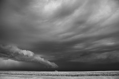 April 10, 2016 - Grandfield, Oklahoma Supercell (SamInDallas) Tags: blackandwhite bw ir infrared 720nm supercellthunderstorm april102016