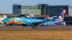 IMG_1629 (Kevin Sung) Tags: plane airplane frozen jets disney boeing westjet yul ws 737800 738 cyul montrealtrudeau