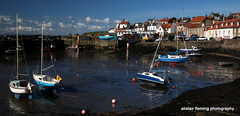 02-IMG_1211St Monans Harbour Fife Scotland 2016 (marinbiker 1961) Tags: blue houses red sea sky bw colour water boats harbour stmonans